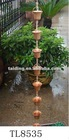 8feet copper Bells rain chain ,free gutter adaptor