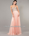 fashion chest beaded pattern jeweled prom dresses
