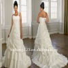 Elegant One-shoulder Appliqued Beaded Plus Size Wedding Dress