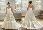 Sweetheart Pick up Flower Royal Plus Size Bridal Wedding Gown