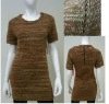 ladies knitted dress, lurex knitwear