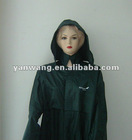 190T PVC Navy blue rain wear with hood