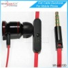 3.5mm Stero mobile cell phone earphone with MIC Flat cable