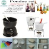 Ceramic fondue set for romantic