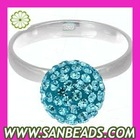 Shamballa Crystal Bead Finger Ring Wholesale
