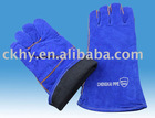 Red cow split leather welder glove AB Level,welding glove
