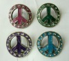 2012 wholesale metal Rhinestone peace candle pin
