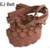 2012 fashion braided Suede belt, low price suede belt