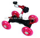 LW-DS05 Camera Video DSLR Rig Movie Truck Skater red Wheel dolly slider Kit