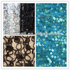 all over embroidery sequin fabric
