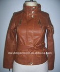 2012 NEW designed leather jacket for ladies