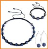Men's cheap shamballa necklace crystal set