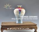 Pop decorated Ceramic Colored Glaze Vase