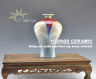 Pop decorated Ceramic Colored Glaze Vase