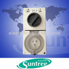 Phase combo switch& socket