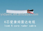 icom 6 core radar cable