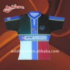 sublimation polyester fabric rugby jersey
