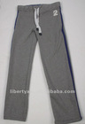 Fleece sweat pants casual CVC knitted cotton polyester trousers
