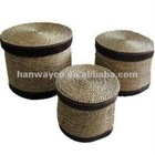 stocklots Round S/3 Sea grass box