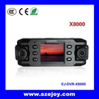 High Resolution car black box External GPS & 2 inch dual lens & 140 wide angle G Sensor X8000