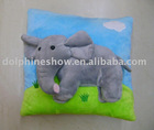 Super soft stuffed plush cushion