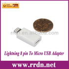 For iPhone 5 Lightning 8 pin to Micro USB Adapter