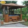 wooden gazebo outdoor spa funiture