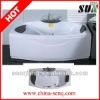 SUN035 1700*850*570mm whirlpool massage bathtub with colorful underwater