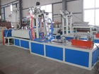 Mono-wing labyrinth type drip irrigation belt production line