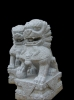 lion carving statue