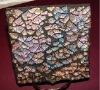 square 9*9cm powdered tempered glass coaster
