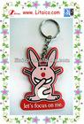 2011 hot sell rabbit soft PVC key chain
