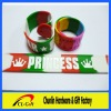 Hot Sell 2012 The Latest Fashion Silicone Slap Bracelet With logo