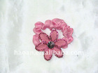 Real feather flower Black Stretch Hair Tie Band Holder(HA-0038)