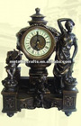 Imitation Antique Cast Copper Art Clock