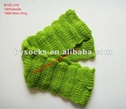 fashionable knitting pattern plain green acrylic scarf