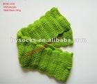 fashionable knitting pattern plain green acrylic scarf