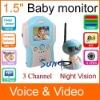 1.5inch 2.4GHz wireless baby monitor