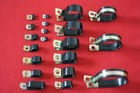 pvc coated electric wire cable clip /PVC mounting clap