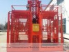 General hoist with twin cage construction material hoist