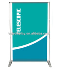 Adjustbale height and width banner stand