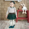 2012 beautiful checked skirts for girls