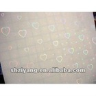 3D Cold Laminating Film with heart pattern