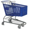 plastic shopping trolley with oval tubing