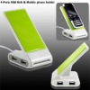 4 Ports USB Hub & Mobile phone holder,USB HUB With Mobile phone holder
