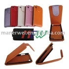 Inside with plastic leather case for iPod touch 4G-Up and down open style