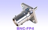 BNC female panel mount receptacle-4 hole flange-BNC Connector