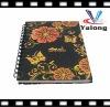 OEM spiral notebook for flower cover