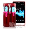 Creative cellphone ice cream plastic for sony xperia s lt26i cases