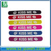 cheap custom fashion accessory silicone slap bracelet